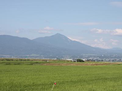 会津盆地と磐梯山